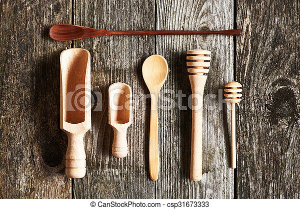 Wooden kitchen utensils - csp31673333