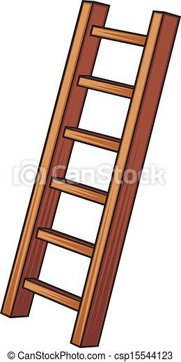 wooden létra, ábra - csp15544123