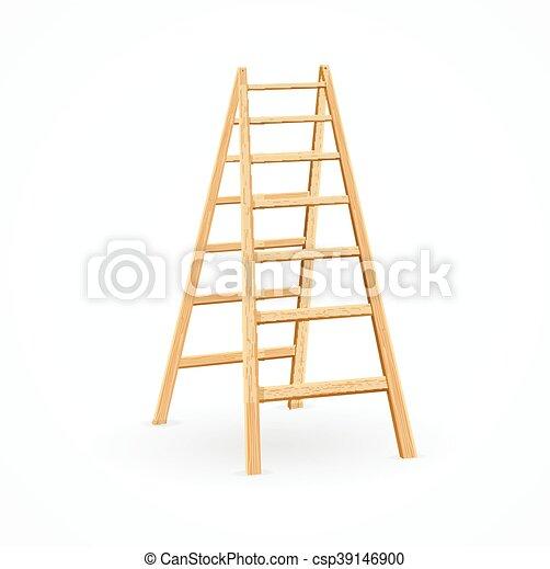 Wooden Ladder Vector Concept Steps Of