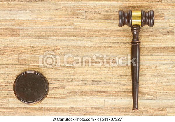 Wooden Law Gavel - csp41707327
