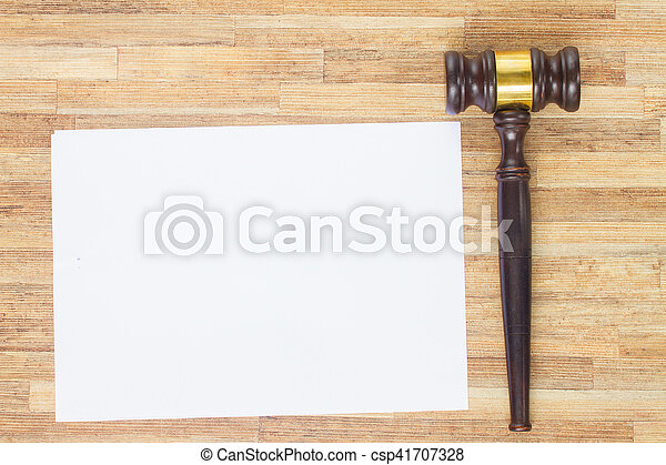 Wooden Law Gavel - csp41707328