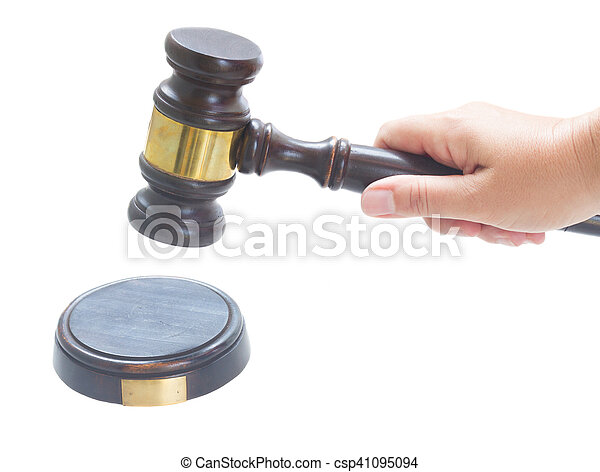 Wooden Law Gavel - csp41095094