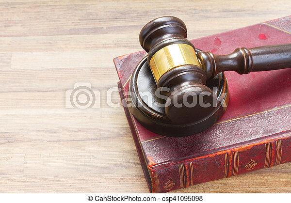 Wooden Law Gavel - csp41095098