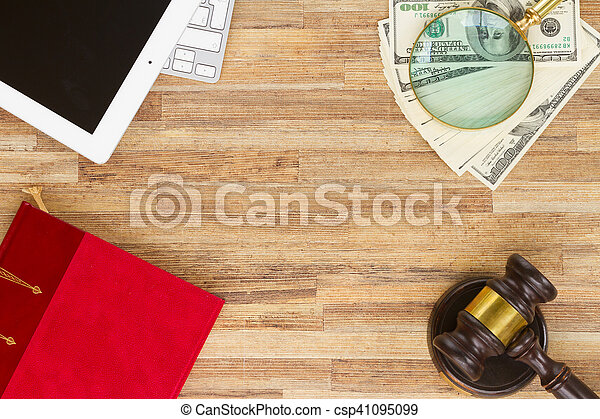 Wooden Law Gavel - csp41095099