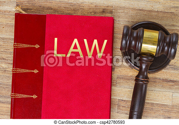 Wooden Law Gavel - csp42780593