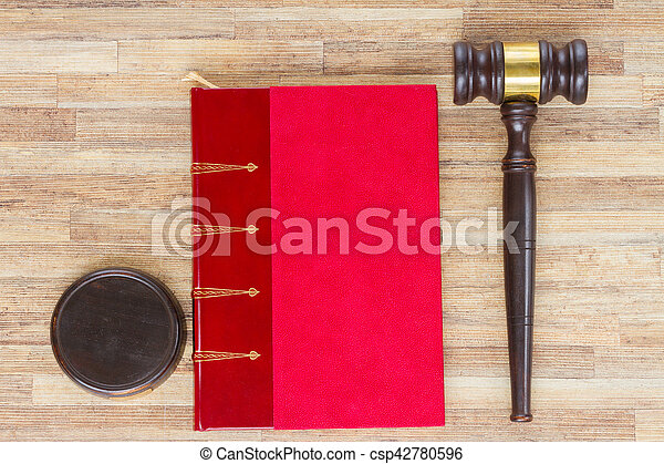 Wooden Law Gavel - csp42780596