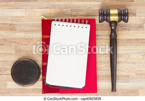 Wooden Law Gavel - csp40923838