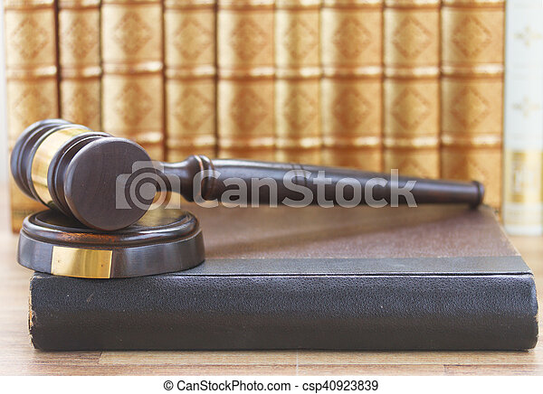 Wooden Law Gavel - csp40923839