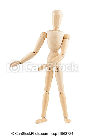 Wooden mannequin - csp11963724