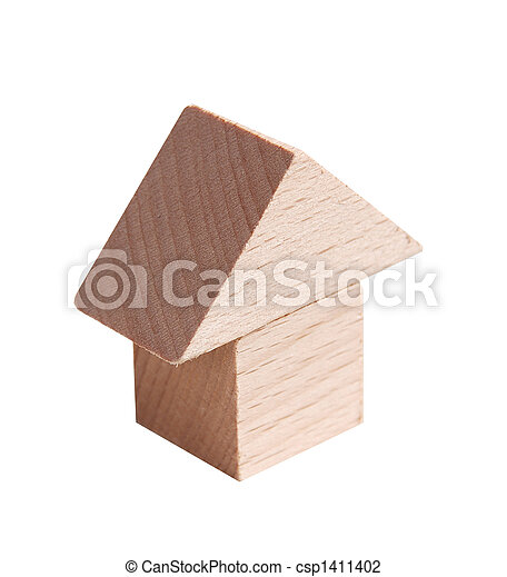 Wooden model of house - csp1411402