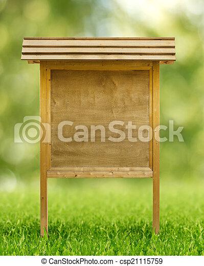 wooden notice board - csp21115759