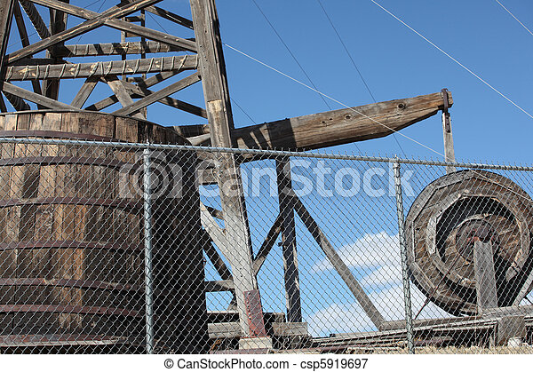 Wooden oil rig. - csp5919697