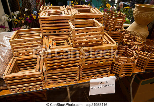 Wooden Orchid Baskets For Sale