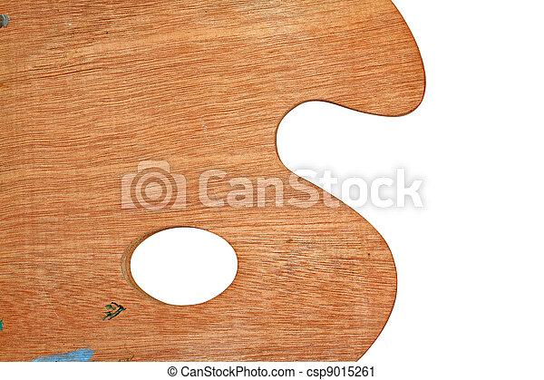 wooden palette on white background - csp9015261