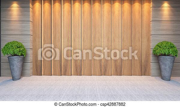 Wooden Panel Wall Decor Design 40d Rendering Modern Wooden Panel Enchanting Wall Decor Design Graphics