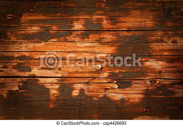 Wooden paneling, old wood grunge background - csp4426693