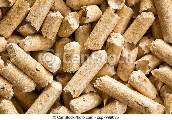 wooden pellet .ecological heating - csp7999035