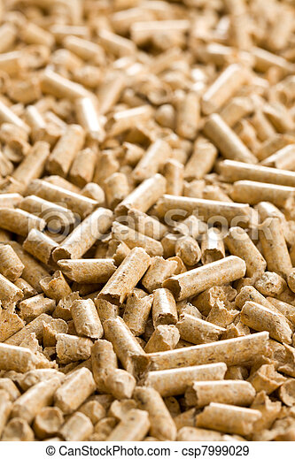 wooden pellet .ecological heating - csp7999029