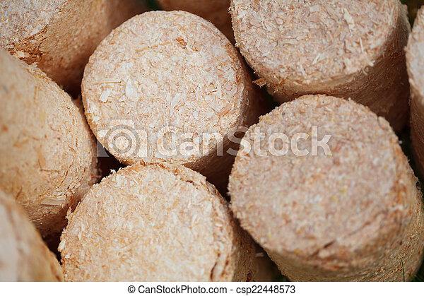 wooden pellets - csp22448573