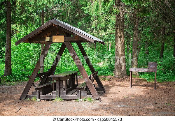 Groovy Wooden Pergola Among Forest Forskolin Free Trial Chair Design Images Forskolin Free Trialorg