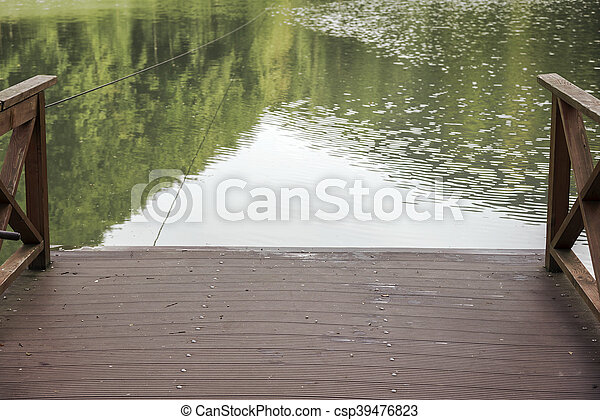 Wooden pier on the lake. - csp39476823