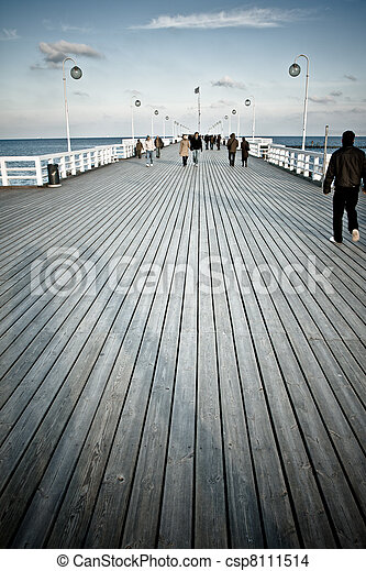 wooden pier - csp8111514