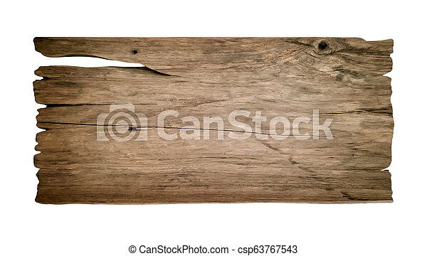 wooden planks isolated on a white background. - csp63767543