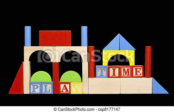 wooden play blocks - csp8177147