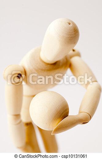 Wooden Posing Dummy - csp10131061