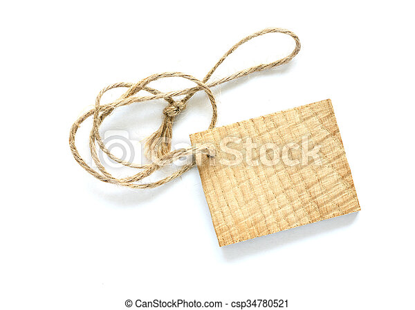Wooden Price Tag - csp34780521