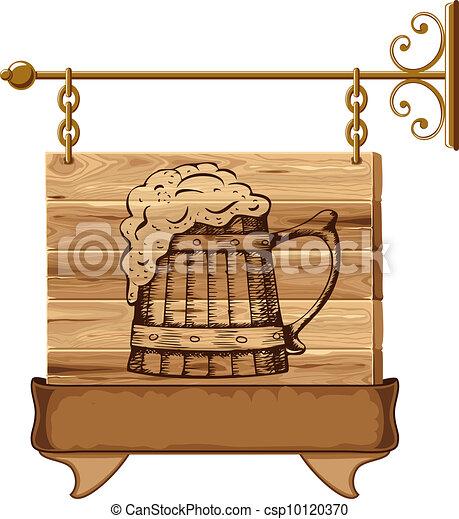 Wooden pub sign - csp10120370