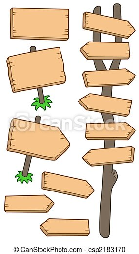 Wooden roadsigns collection - csp2183170