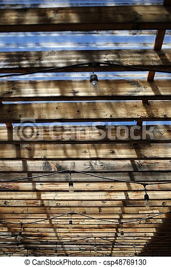 Wooden Roof Close
