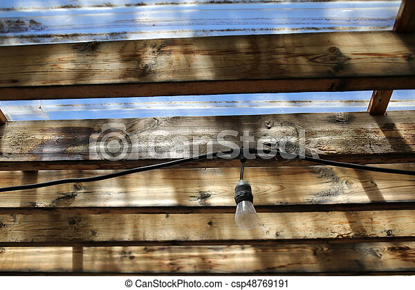 Wooden Roof Construction Close Up