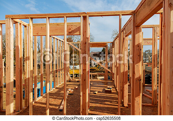 Wooden Roof Construction For Home House Building