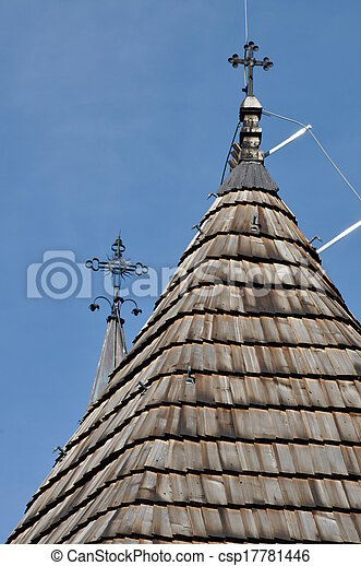 Wooden roof of old church - csp17781446