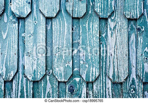 Wooden roof shingles - csp18995765
