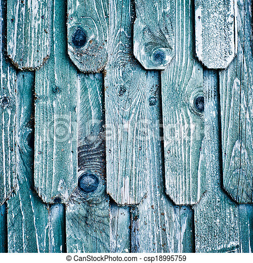 Wooden roof shingles - csp18995759