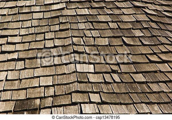 Wooden roof - csp13478195