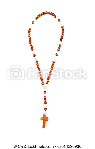 Wooden rosary beads - csp14390936