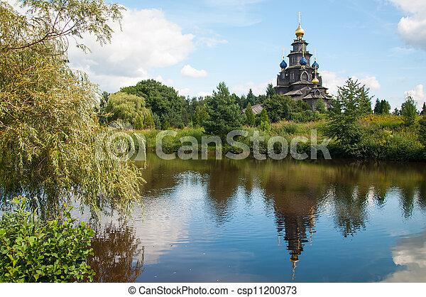 Wooden Russian church - csp11200373