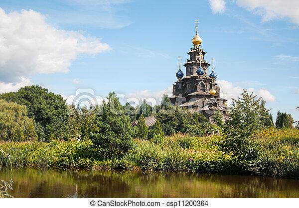 Wooden Russian church - csp11200364