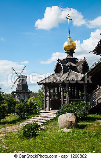 Wooden Russian church - csp11200862