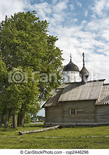 Wooden russian church - csp2446296