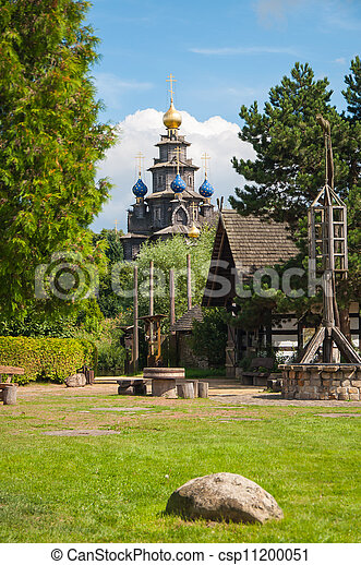 Wooden Russian church - csp11200051