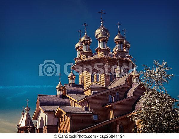 Wooden russian church - csp26841194