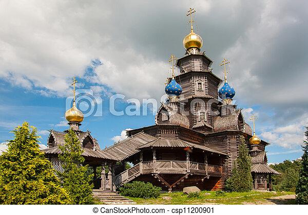 Wooden Russian church - csp11200901