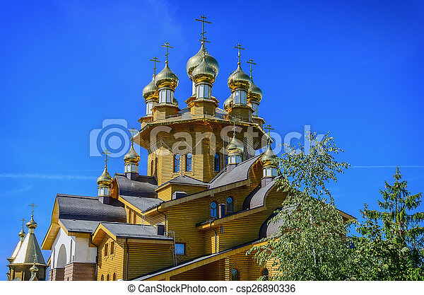 Wooden russian church - csp26890336