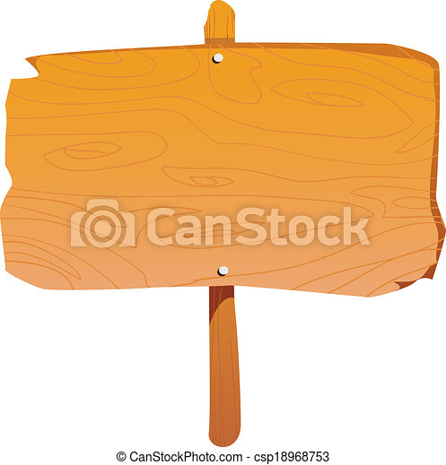 Wooden Sign Board - csp18968753