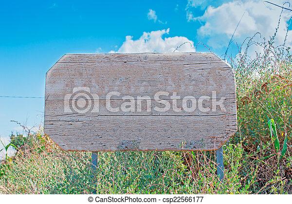 wooden sign - csp22566177